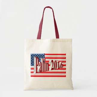 PALIN 2016 Tote Bag, Red 3D, Old Glory Budget Tote Bag