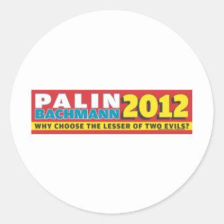 Palin Bachmann 2012 Round Sticker