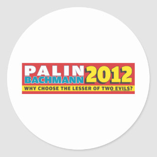 Palin Bachmann 2012 Sticker