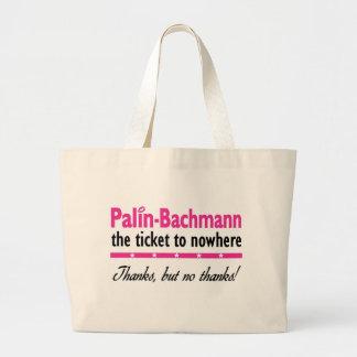 Palin-Bachmann Nowhere Jumbo Tote Bag