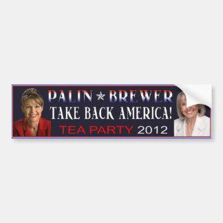 Palin Brewer 2012 Bumper Sticker Car Bumper Sticker