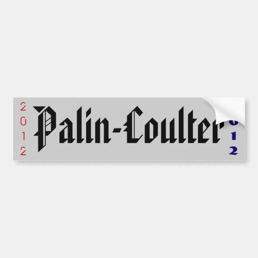 PALIN-COULTER 2012 BUMPER STICKER