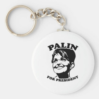 Palin for President Basic Round Button Key Ring