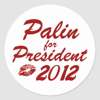 Palin for President Classic Round Sticker