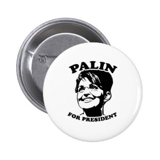 Palin for President Pinback Button
