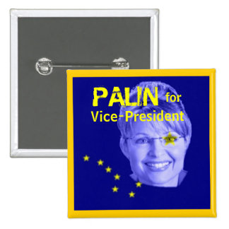 Palin for Veep Square Button