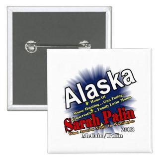 Palin Moose Hunting Mama 15 Cm Square Badge