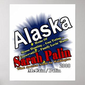 Palin Moose Hunting Mama Poster