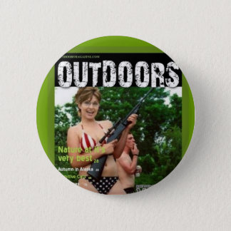 palin outdoors magazine spoof 6 cm round badge