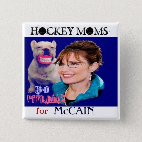Palin/Pitbull Square Button