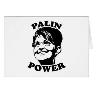 PALIN POWER GREETING CARD