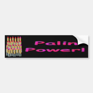 Palin Power Lipstick Bumper Sticker