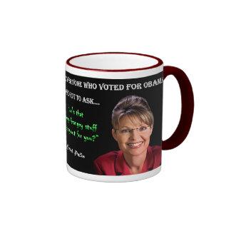 Palin Quote - Hopey Changey Stuff Ringer Mug