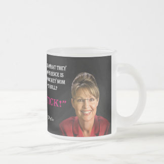 Palin Quote - Pit Bull 10 Oz Frosted Glass Coffee Mug