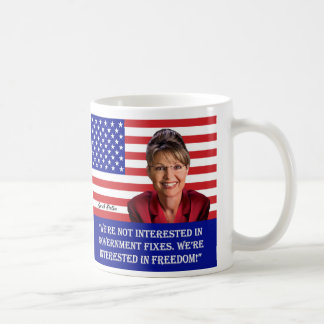 "Palin Quotes-""Lipstick,"" ""Freedom""-See Both Sides Classic White Coffee Mug"