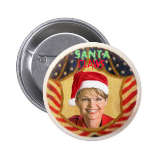 Palin Santa Claws Button