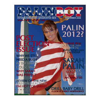 PALINBOY - Post Election Issue - Nov 2008 Poster