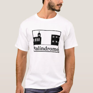 Palindrome Church and Prison - Black Text T-Shirt