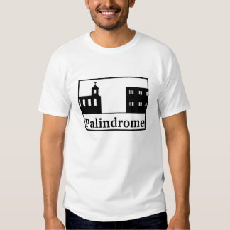 Palindrome Church and Prison - Black Text Tee Shirt