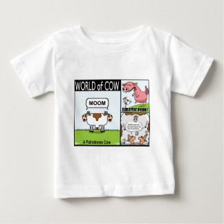 Palindrome Cow, Jurassic Pork and Goldfish Cow Baby T-Shirt