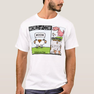 Palindrome Cow, Jurassic Pork and Goldfish Cow T-Shirt