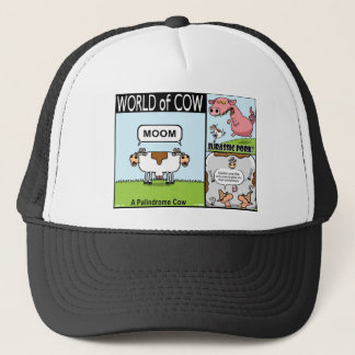 Palindrome Cow, Jurassic Pork and Goldfish Cow Trucker Hat