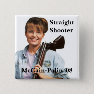 Palingun, McCain-Palin '08, Shooter, Straight 15 Cm Square Badge