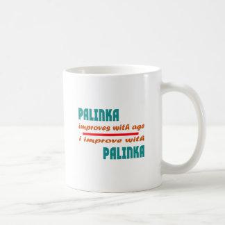Palinka improves with age basic white mug
