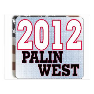 palinWEST 2012 tea PARTY GOP Postcards