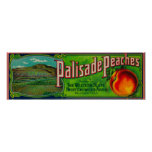 Palisade Peach Label Poster