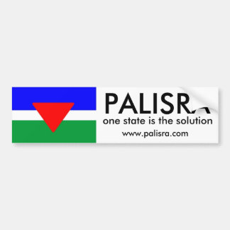 PALISRA Flag, one state is the solutio... Bumper Sticker