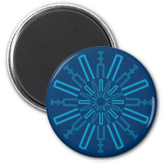 Palitroques azules. Magnet