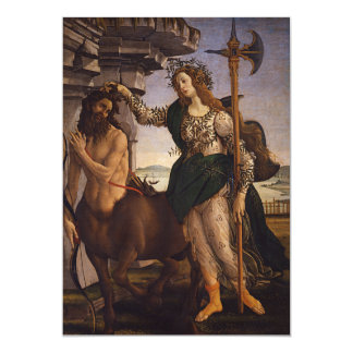 Pallas and the Centaur by Botticelli 13 Cm X 18 Cm Invitation Card
