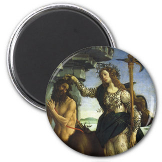 Pallas and the Centaur by Sandro Botticelli 6 Cm Round Magnet