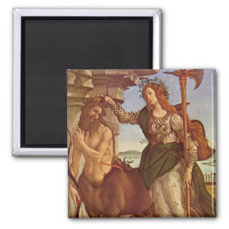 Pallas and the Centaur Square Magnet