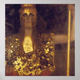 Pallas Athena by Gustav Klimt Poster