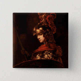 Pallas Athena or, Armoured Figure, 1664-65 15 Cm Square Badge