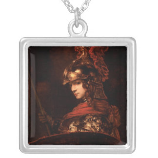 Pallas Athena or, Armoured Figure, 1664-65 Silver Plated Necklace