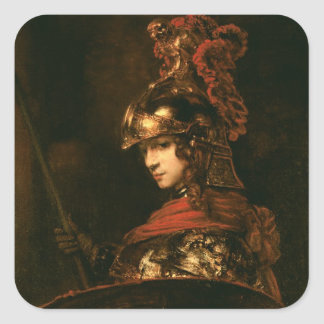 Pallas Athena or, Armoured Figure, 1664-65 Square Sticker