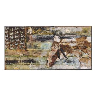 Pallet Horse on wood panel