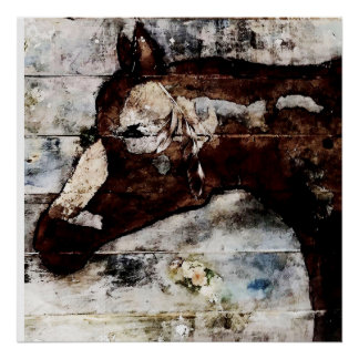 Pallet horse Poster