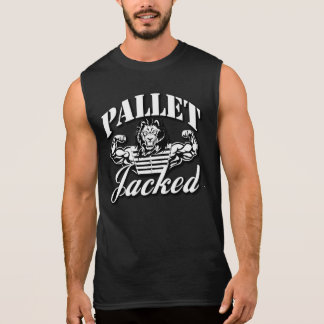 Pallet Jacked Black Sleeveless T-Shirt