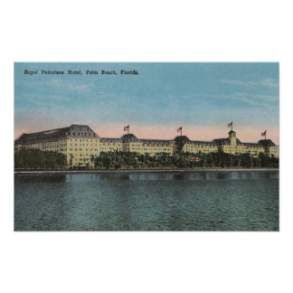 Palm Beach, FL - Ext.View of Royal Poinciana Poster