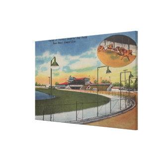 Palm Beach, FL - Kennel Club, Dog Racing Track Canvas Print