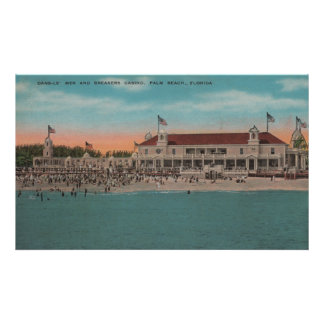 Palm Beach, FL - Oceanview of the Breakers Casin Poster