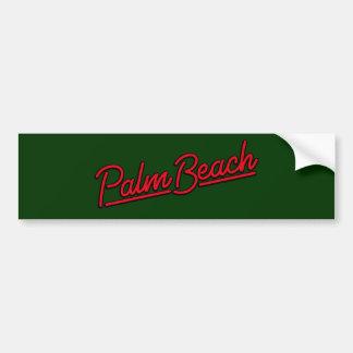 Palm Beach in red Bumper Sticker