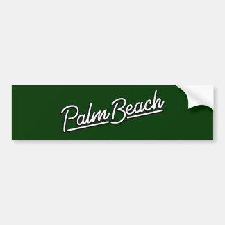 Palm Beach in white Bumper Sticker