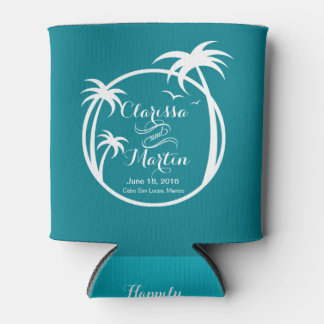 Palm Beach Logo   CHOOSE YOUR BACKGROUND COLOR Can Cooler