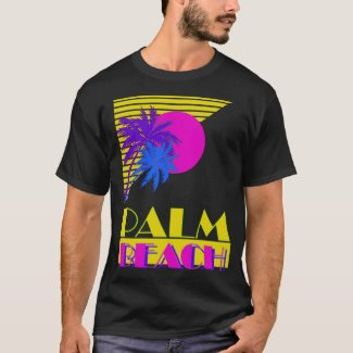 Palm Beach Miami 80s Graphic T-shirt for Adults