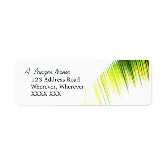 Palm Branch Address Label